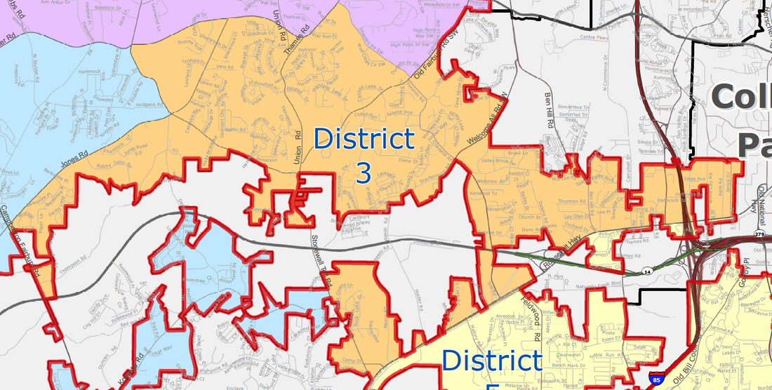 City of South Fulton District 3 (Welcome All/Red Oak) Map - khalidCares.com South Fulton 101