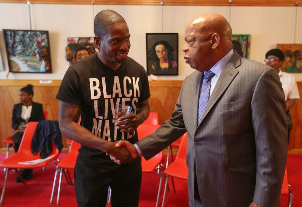 Before becoming a South Fulton City Councilman, one of the first events khalid organized as a co-convener of Atlanta's #BlackLivesMatter chapter was an intergenerational dialogue with 1960 Civil Rights Leaders, including Congressman John Lewis