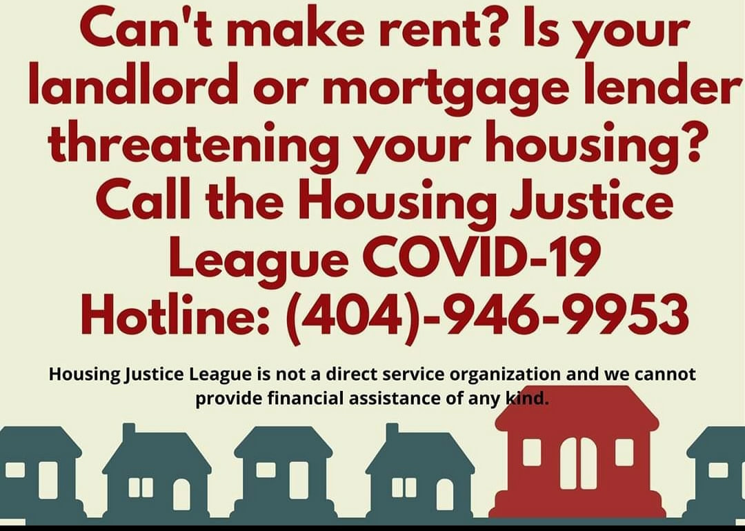Is Your Landlord Threatening to Evict You?  Call Housing Justice's COVID-19 Hotline: (404) 946-9953 khalidCares.com/Survive