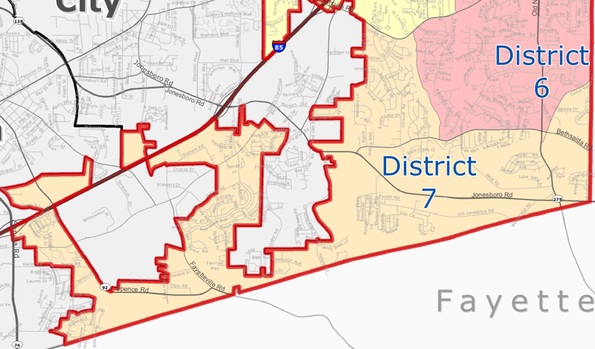 City of South Fulton District 7 (Hwy 138, Oakley Industrial, Fife) Map - khalidCares.com South Fulton 101
