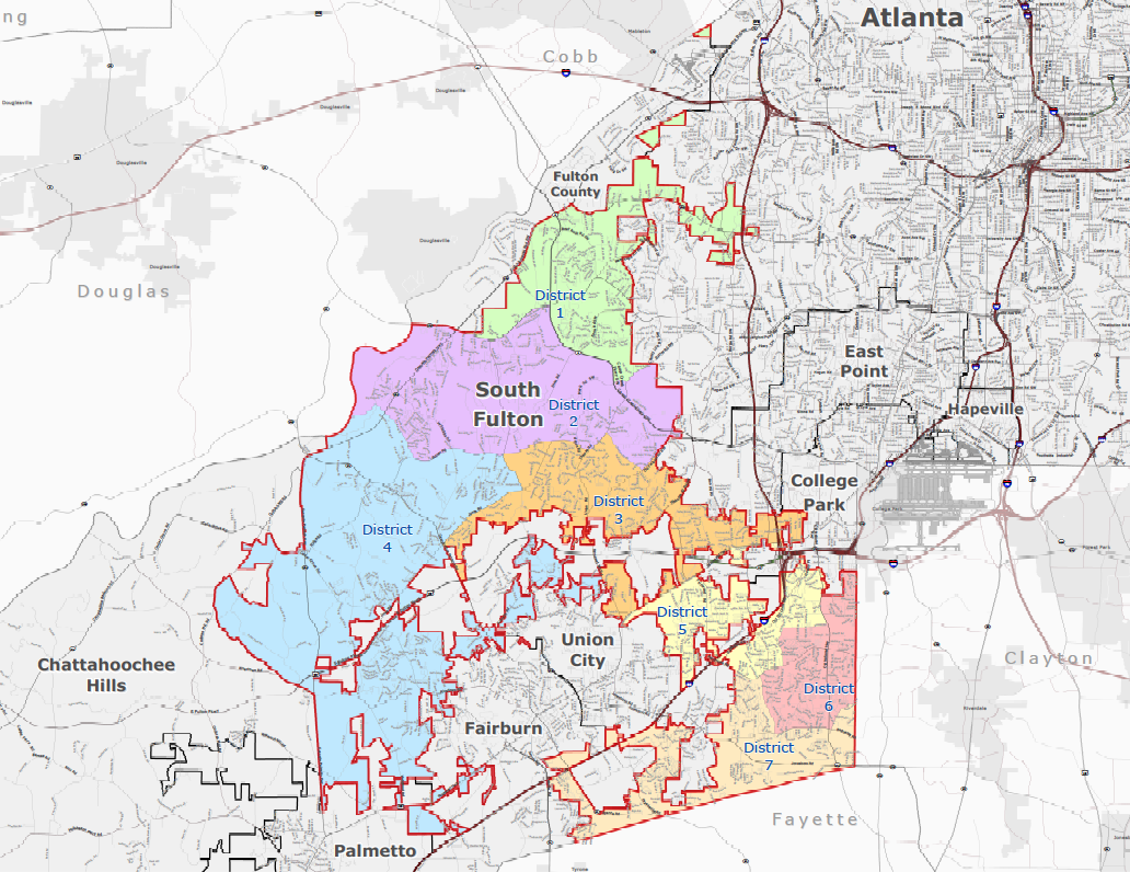 City of South Fulton, GA Map - Zoomable PDF (khalidCares.com/SouthFulton101)